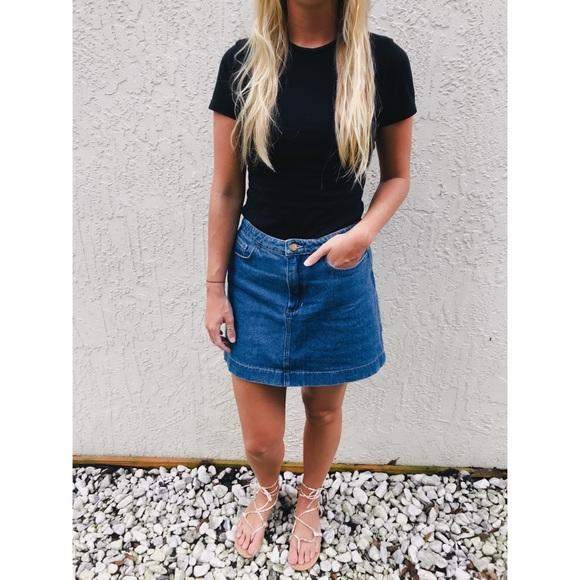 26b2afe8e1 American Apparel Skirts | Sale Dark Wash Indigo Denim Skirt | Poshmark
